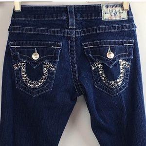 True Religion Jeans Size 28 Rhinestone Pockets